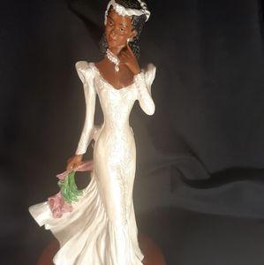 African American Bride Figurine